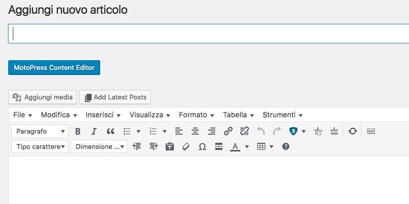 Come scrivere e pubblicare un articolo con Wordpress 2